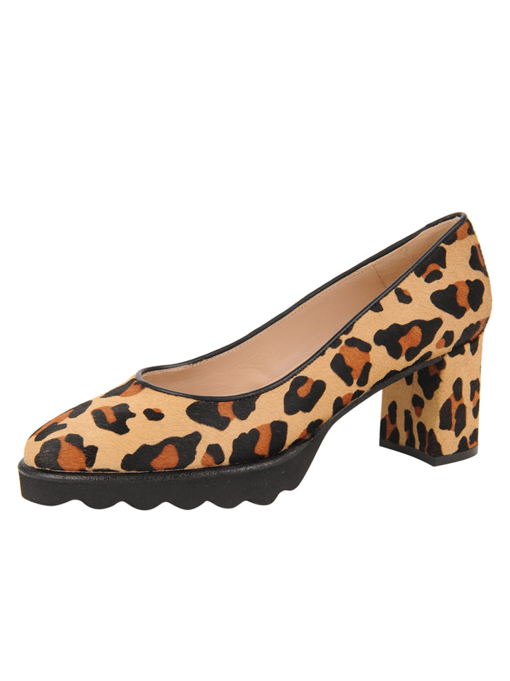 Womens Leopard Haircalf Katie Lug Pump