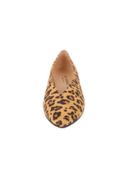 Womens Leopard Suede Pointed Toe Flat 4