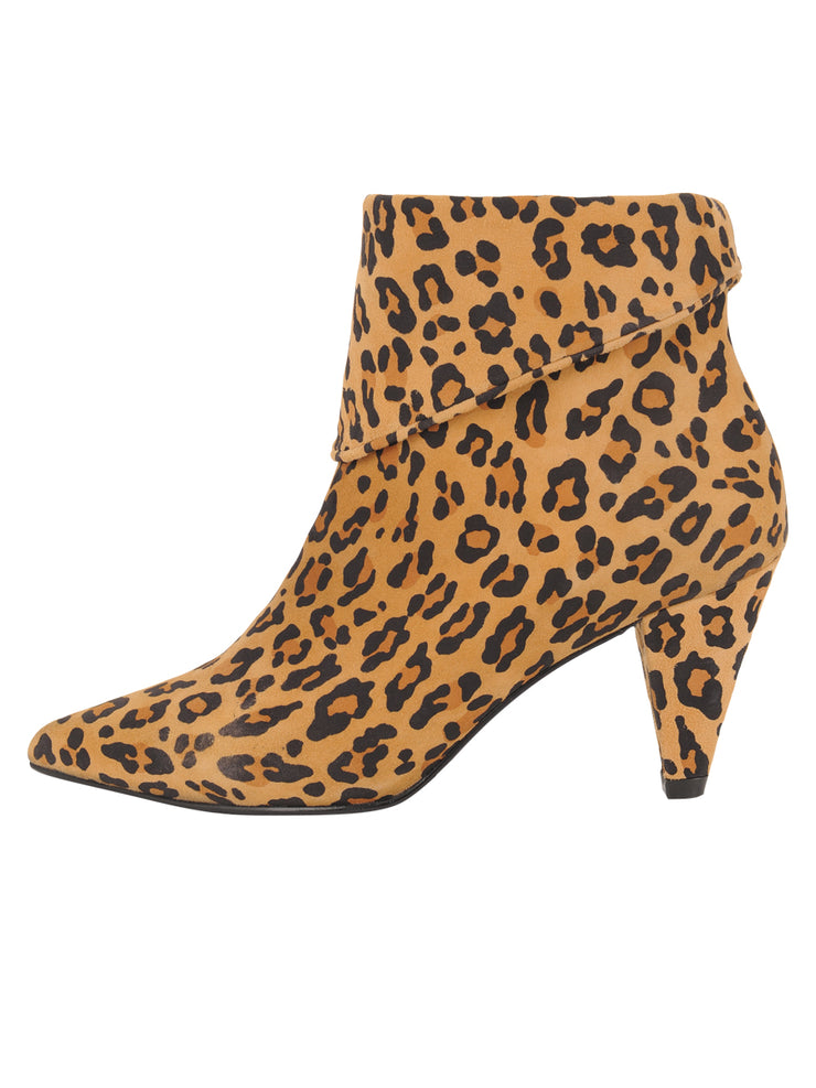 Womens Leopard Suede ELBA CONVERTIBLE ANKLE BOOTIE 6