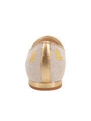 Womens Natural Linen W-Gold Fly Flat 2
