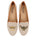 Womens Natural Linen Gatsby Queen Bee Flats