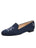 Womens Navy Linen Gatsby Nautical Flat