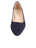 Womens Navy Suede Low Block Heel 5 Alternate View