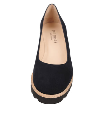 Womens Navy Suede Katie Lug Pump 4 Alternate View