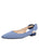 Womens Navy White Combo Marni Pointed Toe Gingham Flat