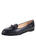 Belgian leather ballet flat with patent trim