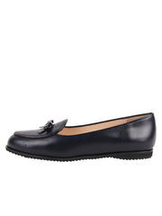 Belgian leather ballet flat with patent trim 7