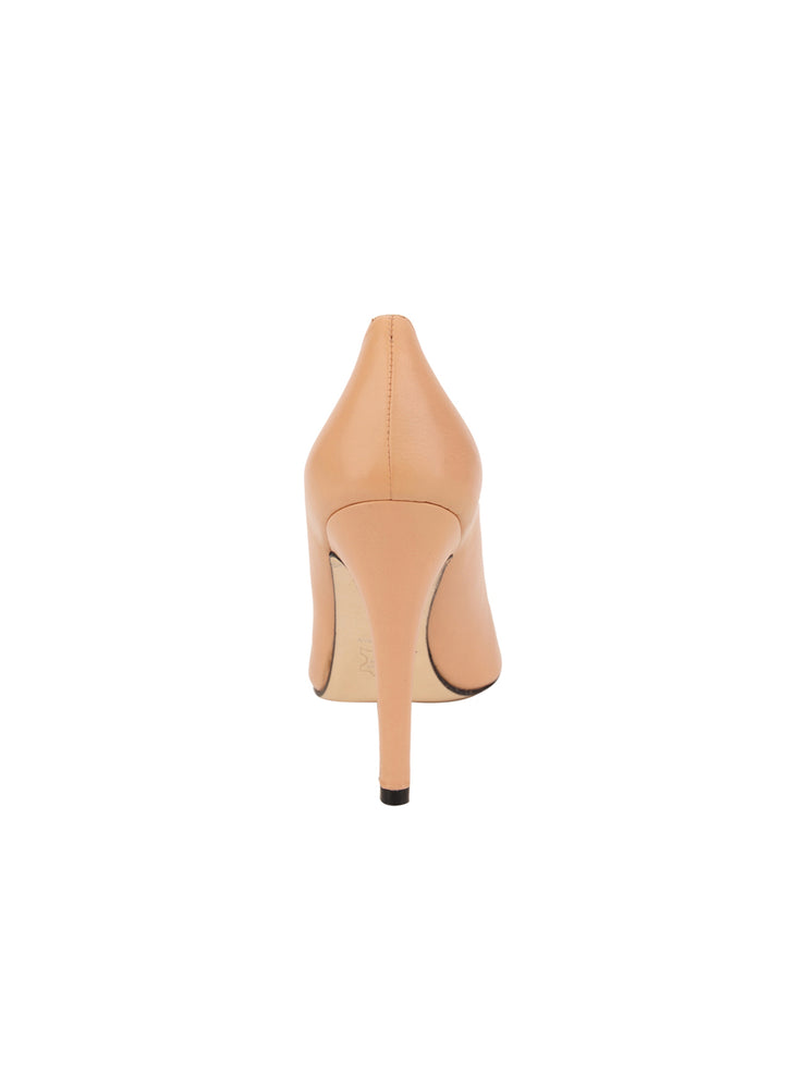 Womens Nude Leather Ana Pointed Toe Stiletto 2