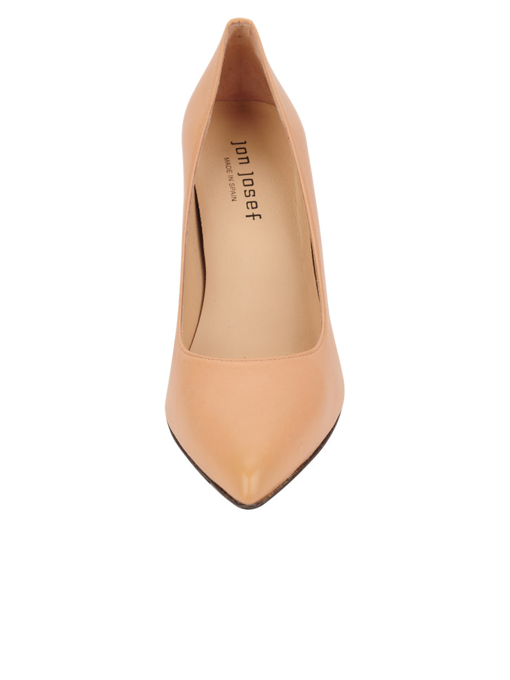 Womens Nude Leather Ana Pointed Toe Stiletto 4