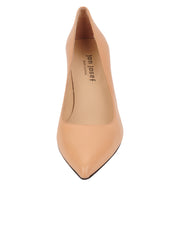 Womens Nude Leather Nova Pointed Toe High Heel Pump 4