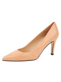 Womens Nude Leather High Heel Pump