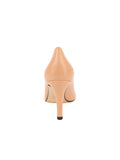 Womens Nude Leather High Heel Pump 2