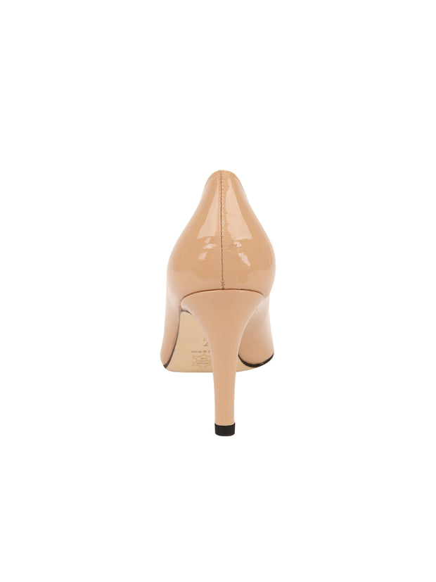 Womens Nude Patent High Heel Pump 2