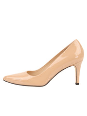 Womens Nude Patent High Heel Pump 6