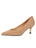 Womens Nude Suede Cassandra Pointed Toe Low Heel Pump