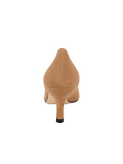 Womens Nude Suede Chance Mid Heel Pump 2