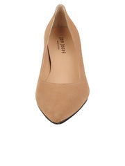 Womens Nude Suede Chance Mid Heel Pump 4