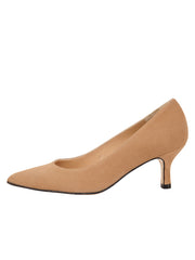 Womens Nude Suede Chance Mid Heel Pump 6