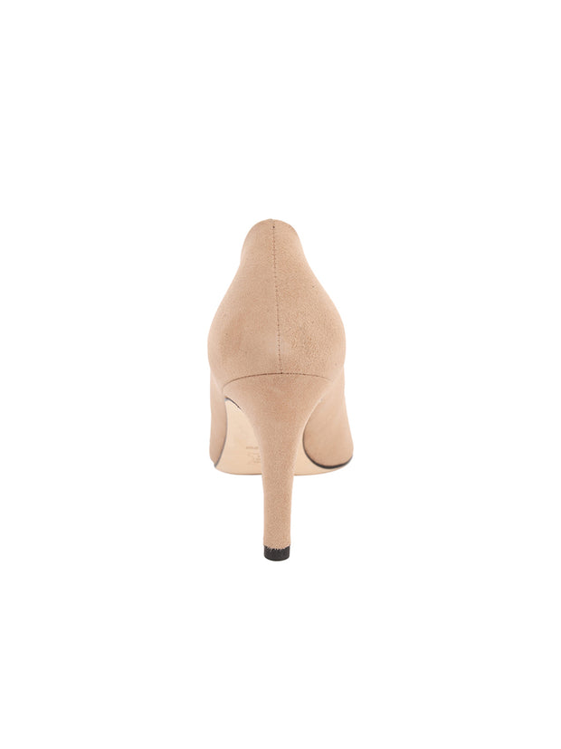 Womens Nude Suede High Heel Pump 2