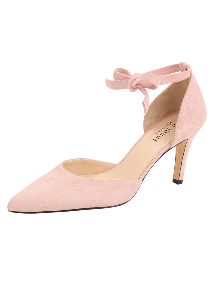 Womens Rose Water Suede Lazada Suede Pointed Toe Pump