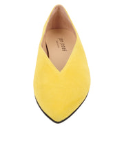 Womens Yellow Suede Pointed Toe Flat 4