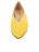 Womens Yellow Suede Pointed Toe Flat 4 Alternate View