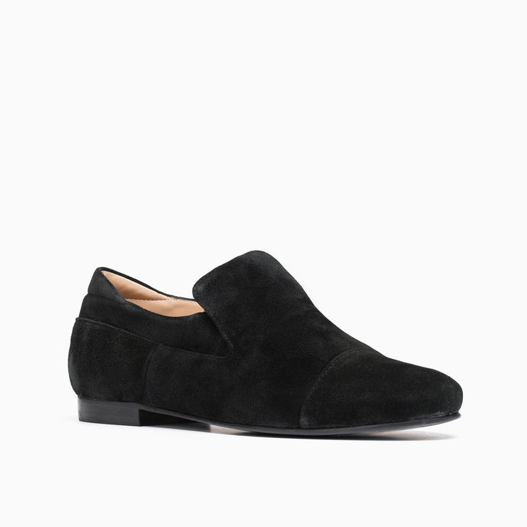 Jon Josef Moc Loafer in Black Split Suede