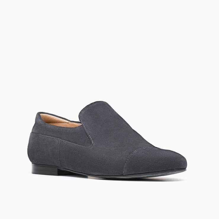 Jon Josef Moc Loafer in Grey Split Suede