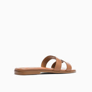 Jon Josef Nelly Flat Sandal in Cognac Leather