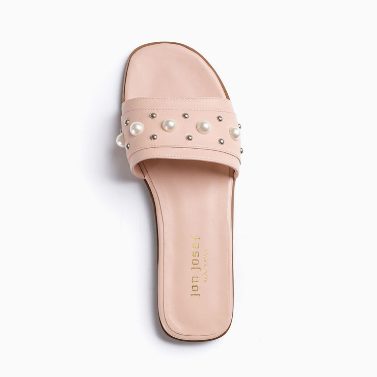 Jon Josef New Pearl Sandal in Pink Coral Leather