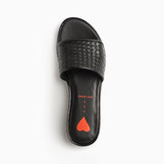 Jon Josef Nina Woven Sandal in Black Leather
