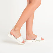 Jon Josef Nina Woven Sandal in White Leather