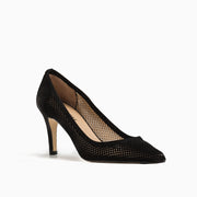 Jon Josef People Pointed Toe Pump in Black Suede
