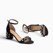 Jon Josef Puerto Sandal in Black Satin