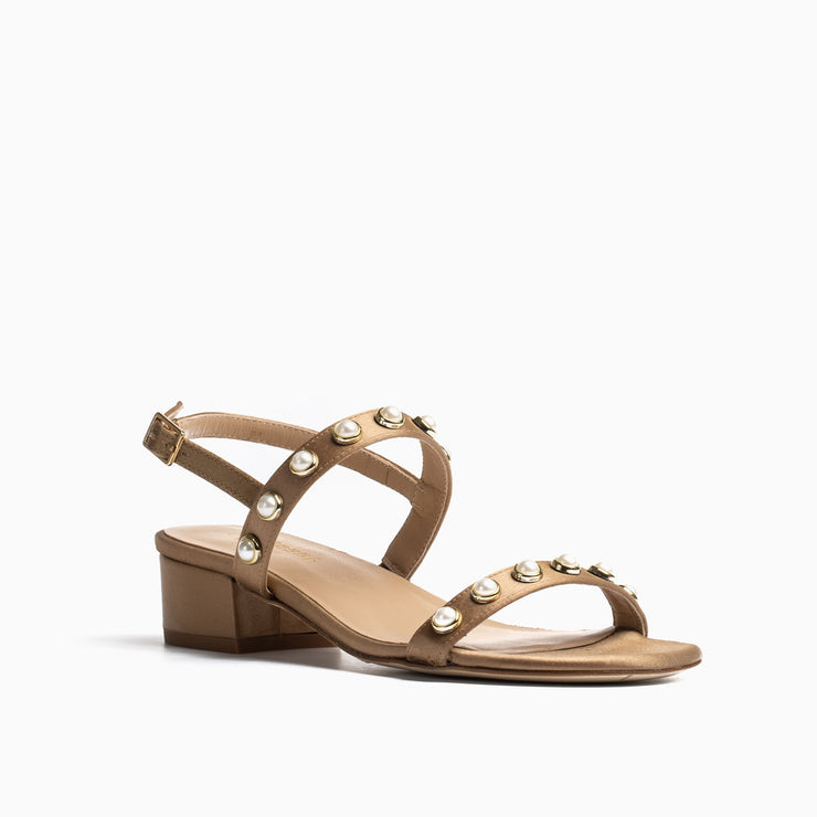 Jon Josef Sawyer Sandal in Sand Satin