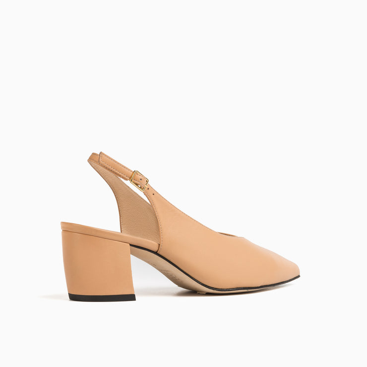 Jon Josef Wanda Slingback Pump in Nude Leather