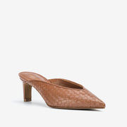 Jon Josef Willa Woven Mule in Natural Leather