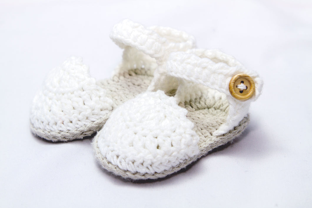 Delicate baby espadrilles for infants summer spring sandals in knit handmade crochet
