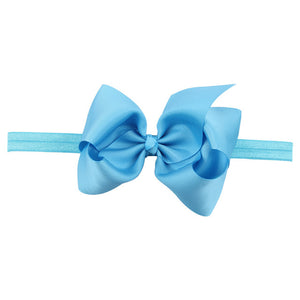 This modern classic beautifully voluminous dramatic, chic look ice blue headband for babies and toddlers