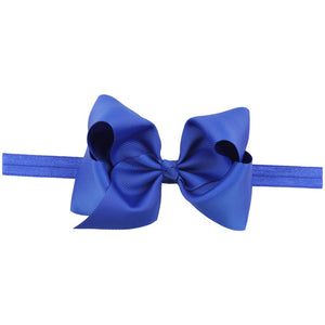 This modern classic beautifully voluminous dramatic, chic look blue headband for babies and toddlers
