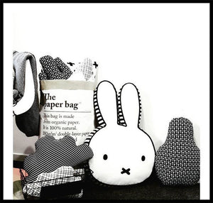 Oversized, imaginative pillows playful companion cuddle friend bunny pillow dog cassette milk bottle nursery kids room