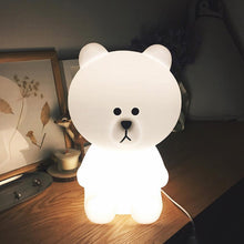 Brown Bear lamp Dutch character pop culture icon cute bear lamp mild white glow of light nursery kids room decor lighting