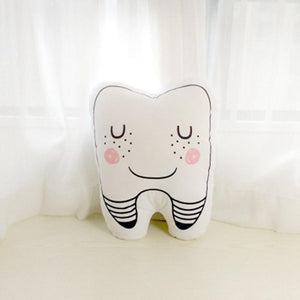 Charming tooth shaped pillow child's pillow collection, sweet tooth, tooth fairy accent pillow nursery decor