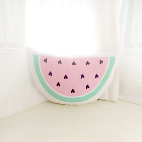 Super cute watermelon slice pillow sweetest child space decor