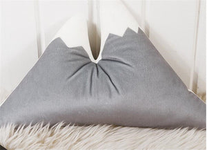Snow covered peak mountain pillows comfortable multifunctional baby kids play area nursery decor