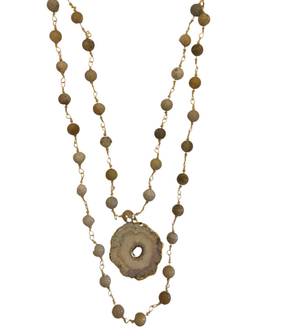Terra Jasper Stalactite Necklace