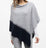 TWIST STITCH COLORBLOCK PONCHO