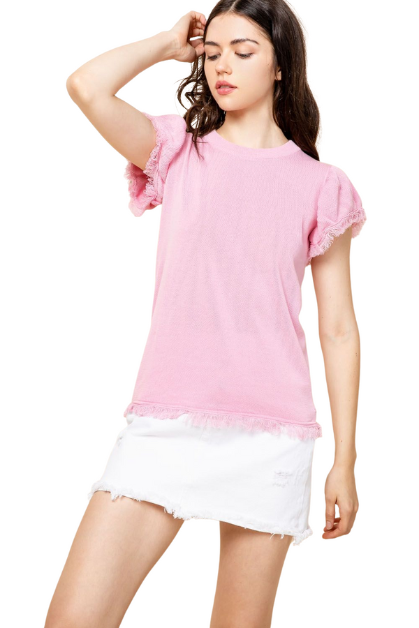 SHORT PUFF SLEEVE TOP
