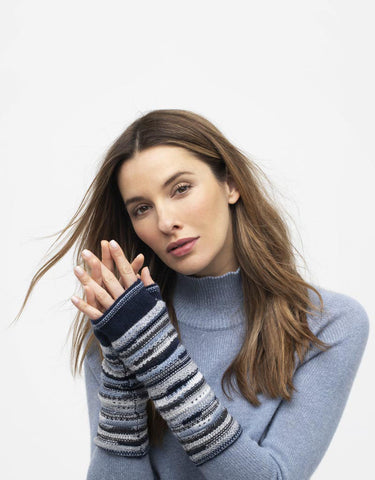 WAVE STITCH FINGERLESS GLOVES