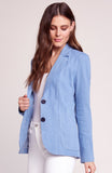 Womens Chambray Feel It In The Rain Blazer 2